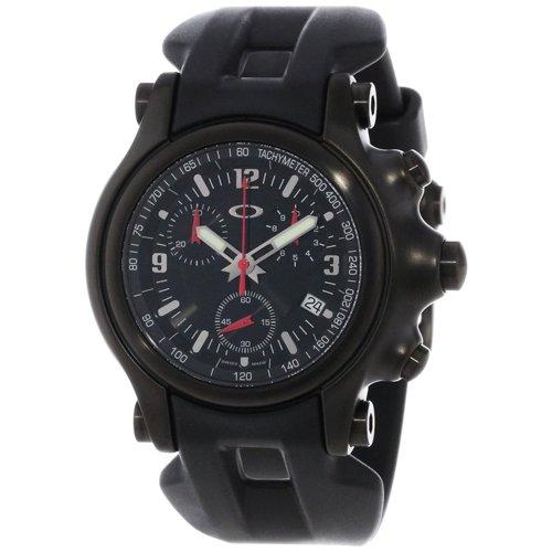 オークリー 腕時計 ホールショット クロノグラフ 10-228 オールブラック×ブラックラバー