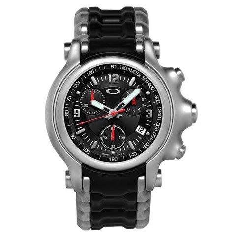 オークリー 腕時計 ホールショット クロノグラフ 10-246 ブラック×ステンレススチールベルト