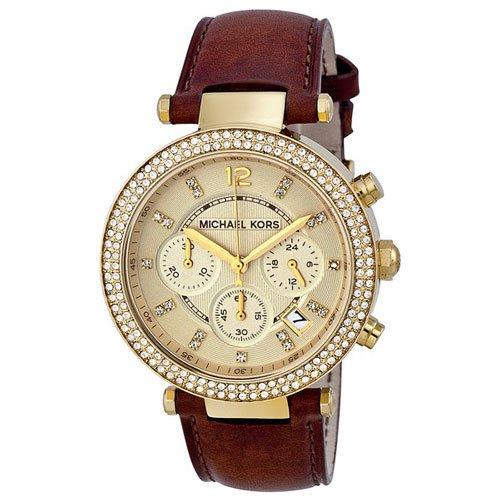 マイケルコース/腕時計/Michael Kors/パーカー/MK2249/ゴールド×ブラウンレザーベルト