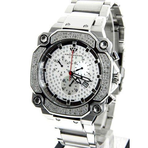 アクアマスター 腕時計 W142 1,30カラット シルバー×ステンレススチール