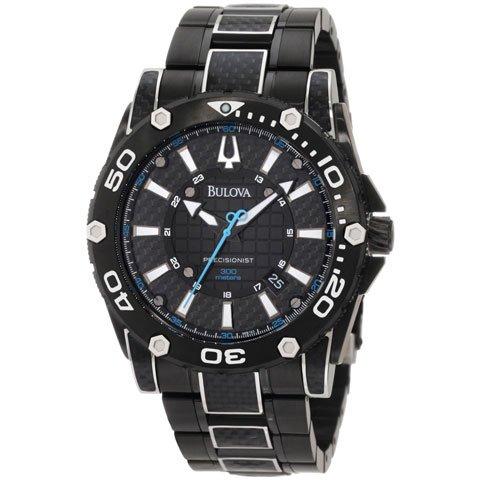 ブローバ 腕時計 プレシジョニスト 98B153 ブラックイオンダイアル