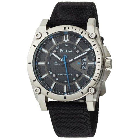 ブローバ 腕時計 プレシジョニスト 96B132 ブラックナイロンストラップ