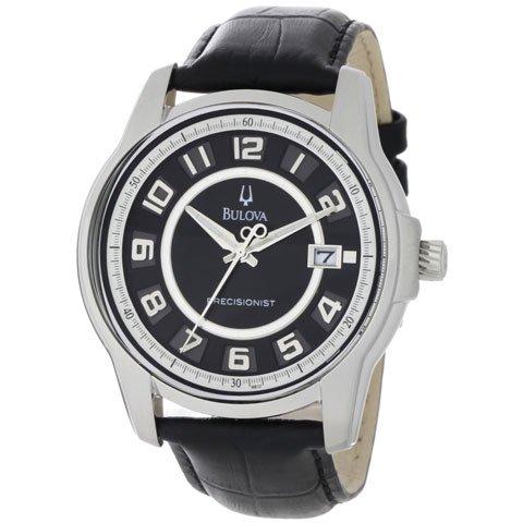 ブローバ 腕時計 プレシジョニスト 96B127 ブラックレザー