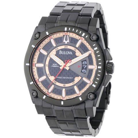 ブローバ 腕時計 プレシジョニスト 98B143 ブラックステンレススチールベルト