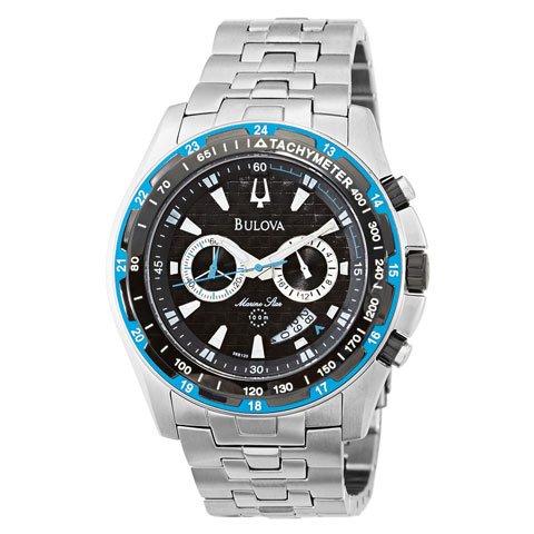 ブローバ 腕時計 マリンスター 98B120 ブルーベゼル×ステンレススチールベルト