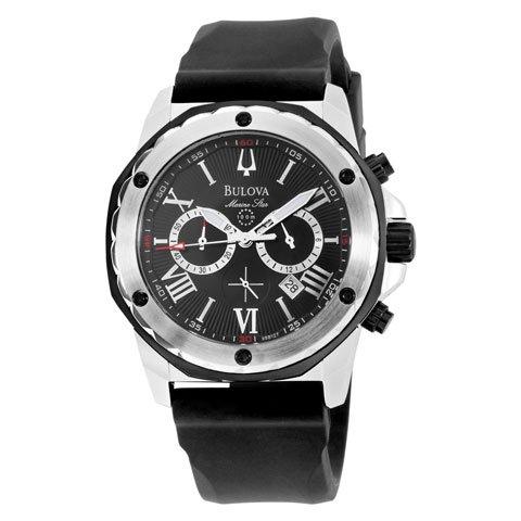 ブローバ 腕時計 マリンスター 98B127 ブラックダイヤル