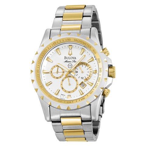 ブローバ 腕時計 マリンスター 98B014 シルバー×ゴールド