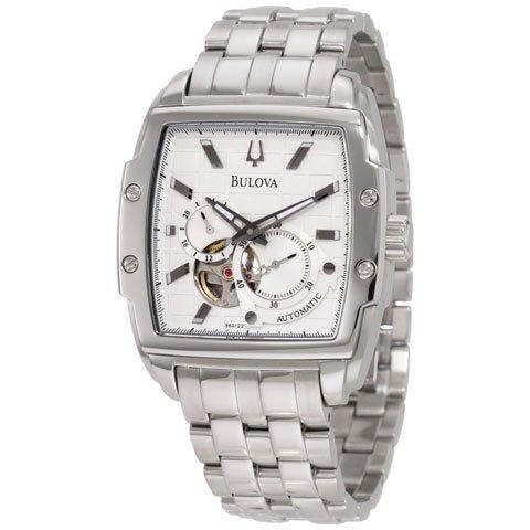ブローバ 腕時計 BVAシリーズ 96A122 オートマチック ホワイト×ステンレススチールベルト