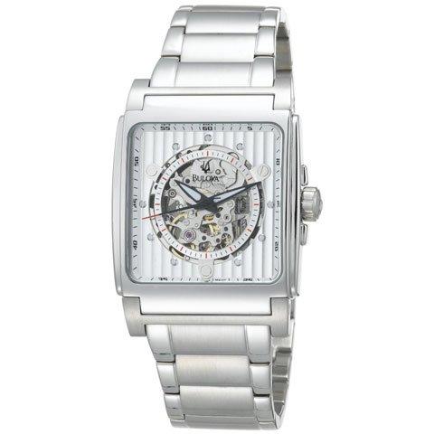 ブローバ 腕時計 BVAシリーズ 96A107 オートマチック ホワイト×ステンレススチールベルト
