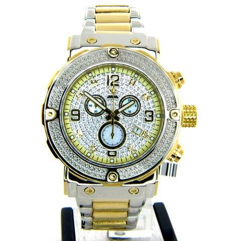 アクアマスター 腕時計 W146 ダイヤモンドウォッチ シルバー×ゴールド