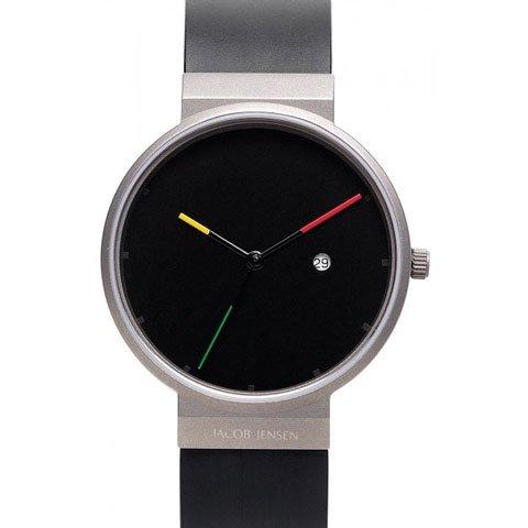 ヤコブ・イェンセン 腕時計 メンズ 640 ブラック×イタリアンカラー