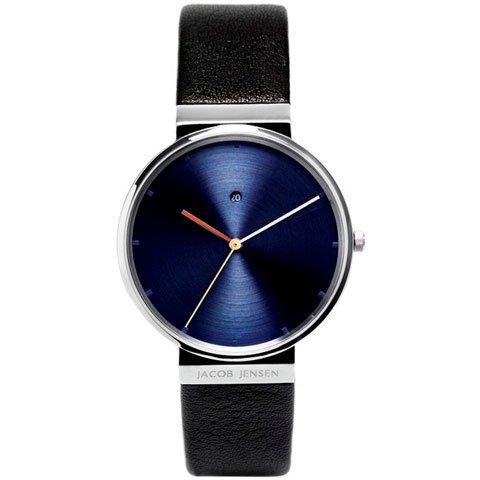 ヤコブ・イェンセン 腕時計 メンズ 841 ブルー