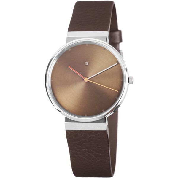 ヤコブ・イェンセン 腕時計 メンズ 843 ブラウン×ブラウンレザーベルト