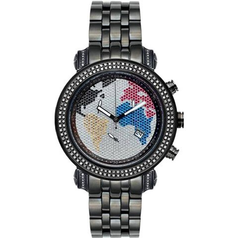 ジョーロデオ 腕時計 テイラー JTY13 ワールドマップ×ブラック 1,9カラット ダイヤモンドウォッチ