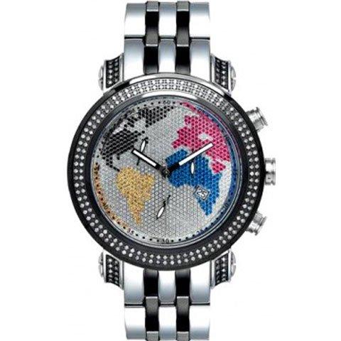 ジョーロデオ 腕時計 テイラー JTY14 ワールドマップ×シルバー 1,9カラット ダイヤモンドウォッチ