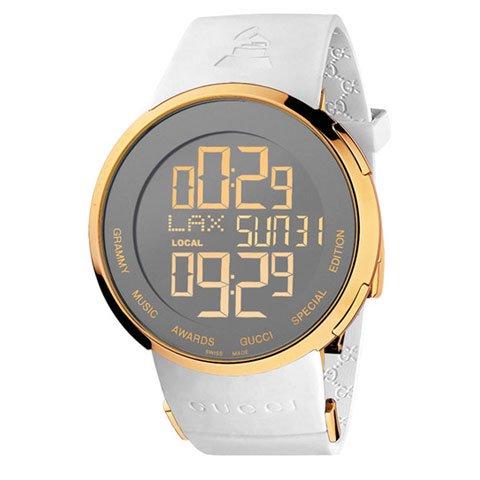 グッチ 腕時計 I-グッチ スペシャルエディション YA114216 ホワイトラバーストラップ