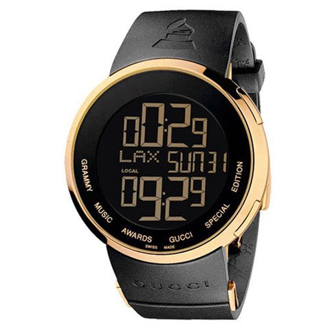 グッチ 腕時計 I-グッチ グラミーアワード スペシャルエディション YA114215 ブラック×ゴールド