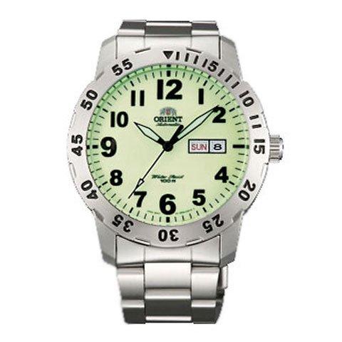 オリエント 腕時計 FEM7A002R オートマチック グリーン×ステンレススチールベルト