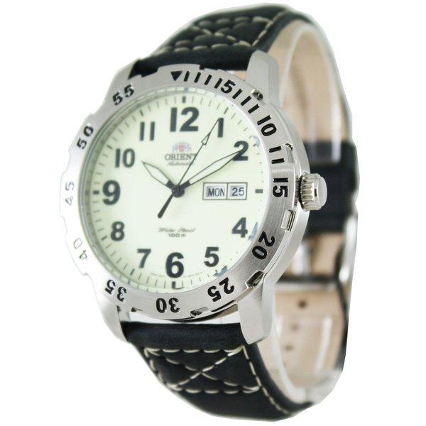 オリエント 腕時計 FEM7A004R オートマチック グリーン×ブラックレザーベルト