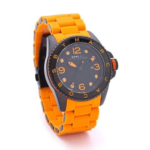 マークバイマークジェイコブス 腕時計 メンズ ダイバー MBM2587 ブラック×オレンジ