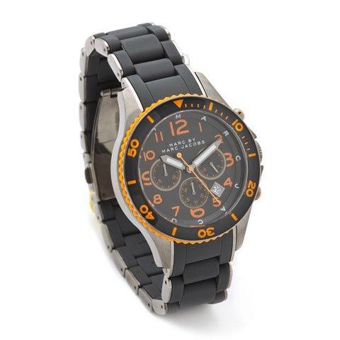 マークバイマークジェイコブス 腕時計 メンズ ロック MBM2584 グレー×シルバー×オレンジ