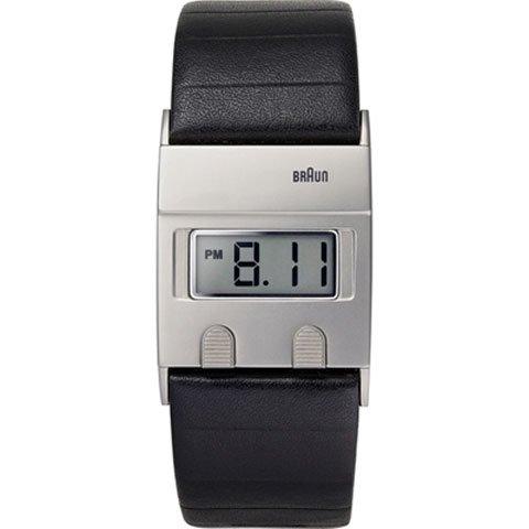 ブラウン|Braun 時計/デジタルウォッチ/BN0076SLBKG/シルバー×ブラックレザーベルト