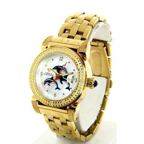 アクアマスター/Aqua Master 時計 レディース W88-J2 ダイヤモンド マザーオブパールダイアル×ゴールドステンレスベ…