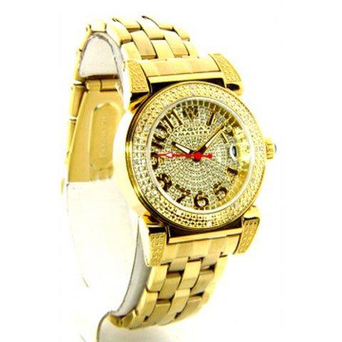 アクアマスター/Aqua Master 時計 レディース W88-J5 パヴェダイアル×ゴールドステンレスベルト