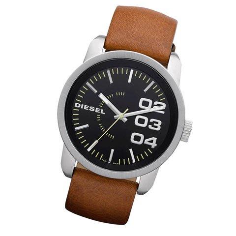 ディーゼル 腕時計 フランチャイズ DZ1513 ブラックダイアル×ブラウンレザーベルト