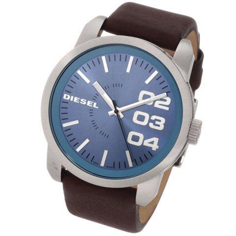 ディーゼル 腕時計 フランチャイズ DZ1512 ブルー×ブラウンレザーベルト