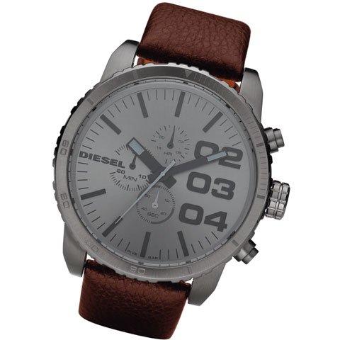 ディーゼル 腕時計 フランチャイズ DZ4210 ガンメタル×ブラウンレザー
