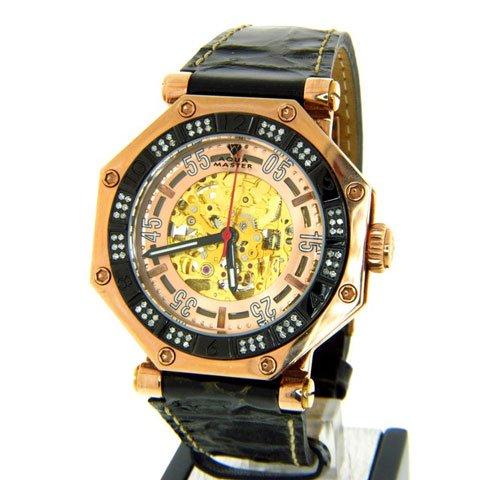 アクアマスター 腕時計 オクタゴン 自動巻き W303 ローズゴールド