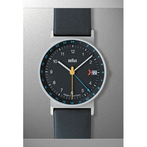 ブラウン|Braun 時計/AW24/GMT/ブラック×ブラックレザーベルト