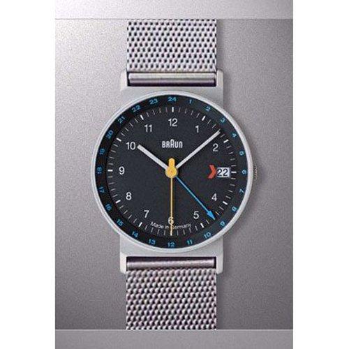 ブラウン Braun 時計/AW24/GMT/ブラック×シルバーメッシュベルト