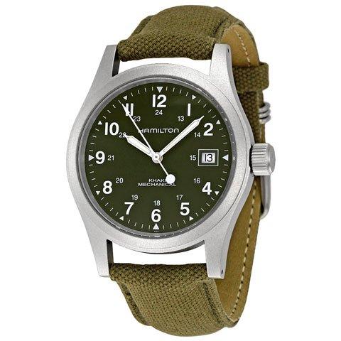 ハミルトン 腕時計 カーキフィールド メカ H69419363 モスグリーン