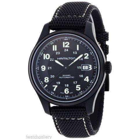 ハミルトン 腕時計 カーキフィールド チタニウム H70575733 ブラック×ブラック