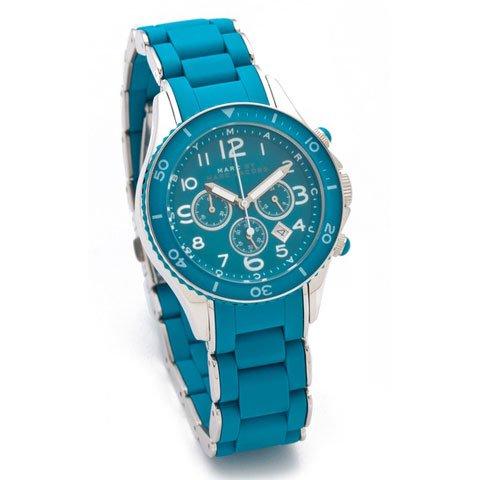 マークバイマークジェイコブス 腕時計 レディース ロック MBM2575 エレクトロブルー×シリコンベルト