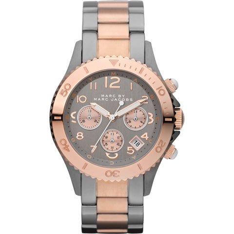 マークバイマークジェイコブス 腕時計 レディース ロック MBM3157 グレー×ローズゴールド