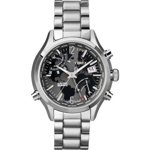 タイメックス 腕時計 インテリジェントクオーツ ワールドタイム T2N944 ステンレススチールベルト