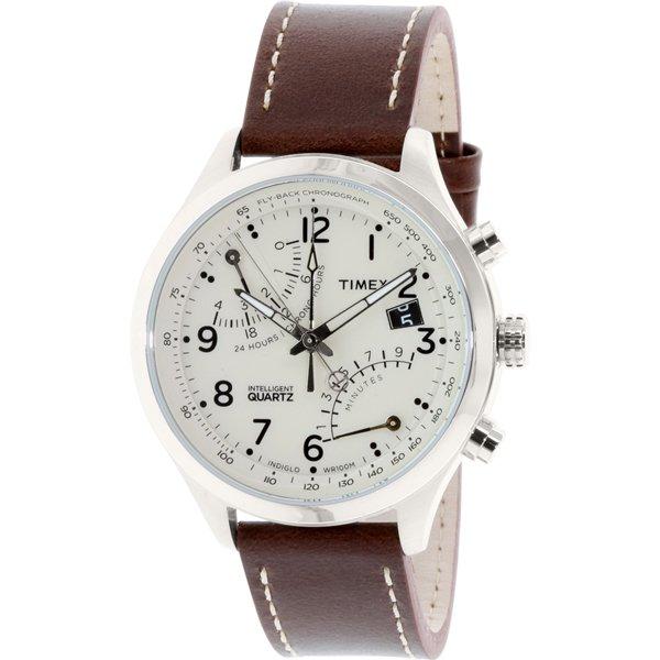 タイメックス 腕時計 インテリジェントクオーツ フライバック T2N932 オフホワイト×ヴィンテージブラウン