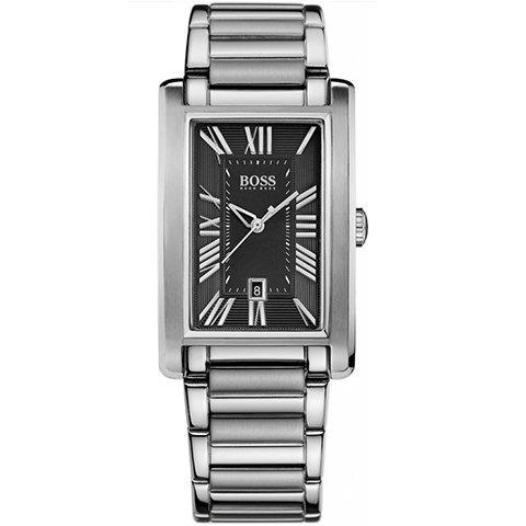 ヒューゴボス 腕時計 メンズ ブラック 1512712 ブラックダイヤル×ステンレスブレスレット