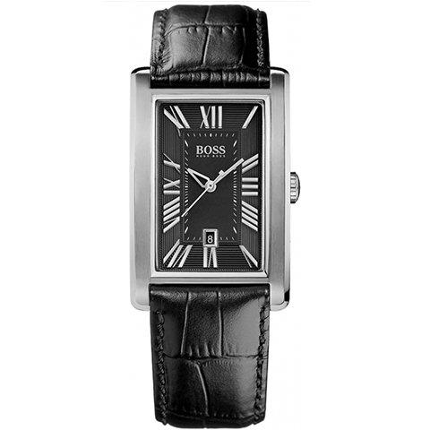 ヒューゴボス 腕時計 メンズ ブラック 1512708 ブラックダイヤル×ブラックレザーベルト