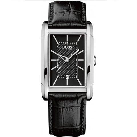 ヒューゴボス 腕時計 メンズ ブラック 1512619 ブラックダイヤル×ブラックレザーベルト