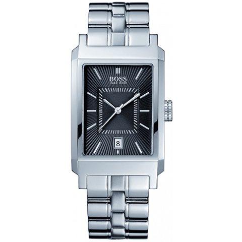 ヒューゴボス 腕時計 メンズ ブラック 1512229 ブラックダイヤル×ステンレスブレスレット