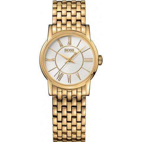 ヒューゴボス 腕時計 レディース 1502242 ホワイトダイヤル×ゴールドステンレスブレスレット