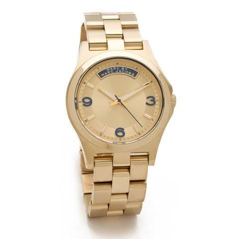 マークバイマークジェイコブス 腕時計 レディース ベイビーデイブ MBM3162 ゴールド×ネイビー