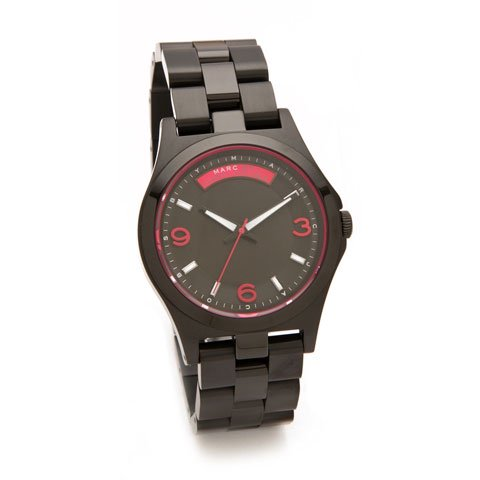 マークバイマークジェイコブス 腕時計 メンズ ベイビーデイブ MBM3165 ブラック×ピンク