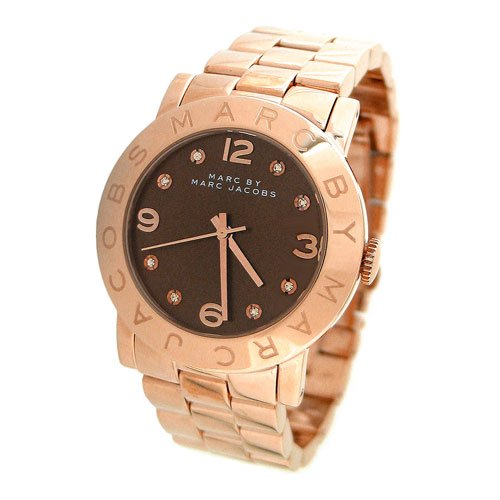 マークバイマークジェイコブス 腕時計 レディース エイミー MBM3167 ブラウン×ローズゴールド
