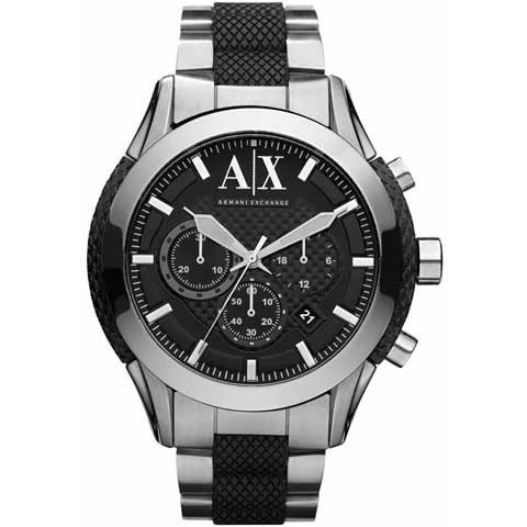 アルマーニエクスチェンジ 腕時計 メンズ AX1214 クロノグラフ ブラック×ツートン
