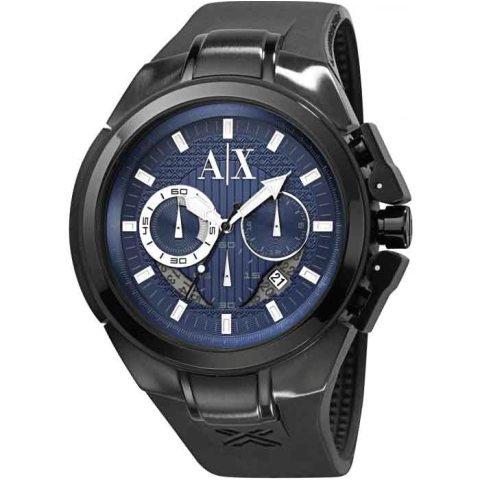 アルマーニエクスチェンジ 腕時計 メンズ AX1114 クロノグラフ ブルー×ブラック